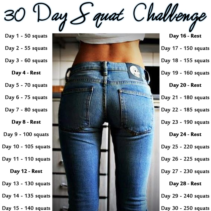 About that 30 Day Squat Challenge... - Making Sense of ...